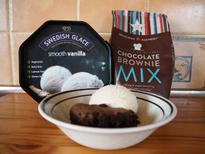 Delicious Alchemy Chocolate Brownie Mix and Swedish Glace Ice Cream