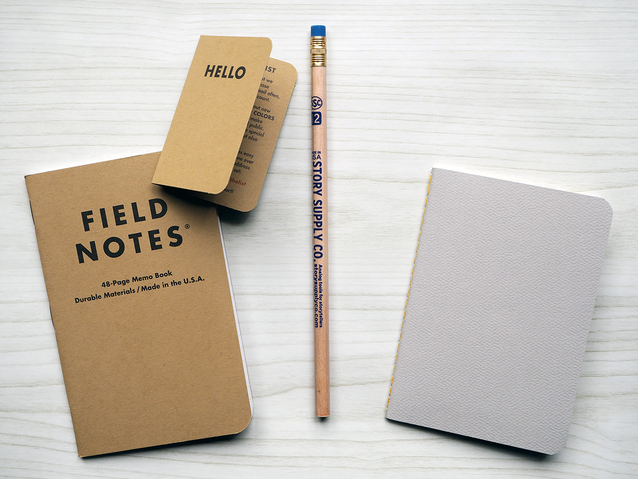 Pocket Notebooks Subscription Box Contents