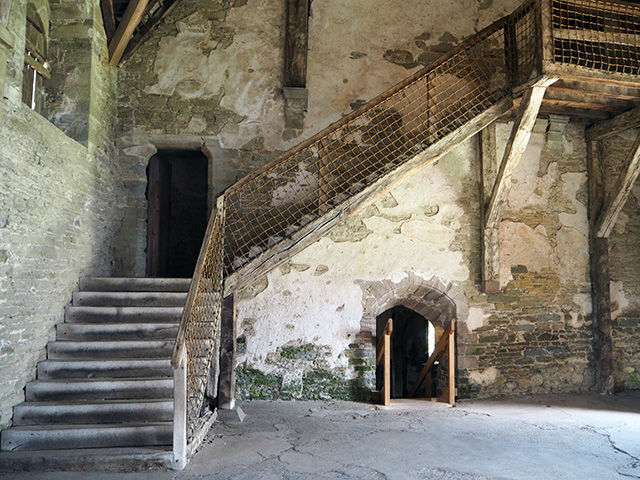 The Great Hall at Stokesay Castle