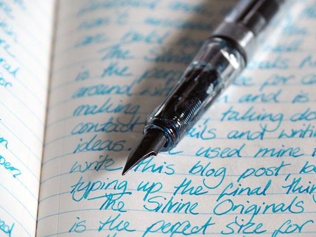 Writing inside the Silvine Originals Memo Book