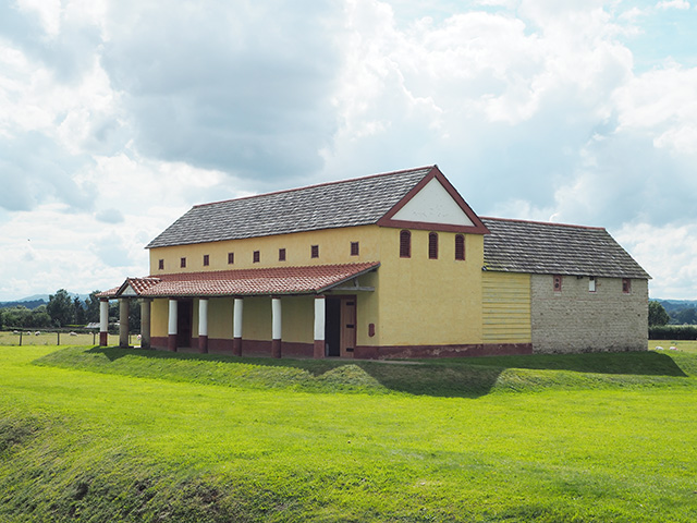 Wroxeter Roman City - Re-created Roman Town House