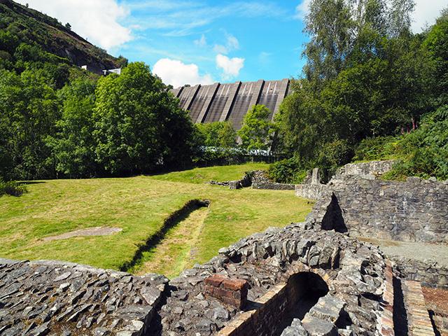 Bryntail Lead Mine Ruins
