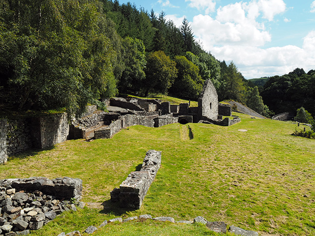 Bryntail Lead Mine Ruins