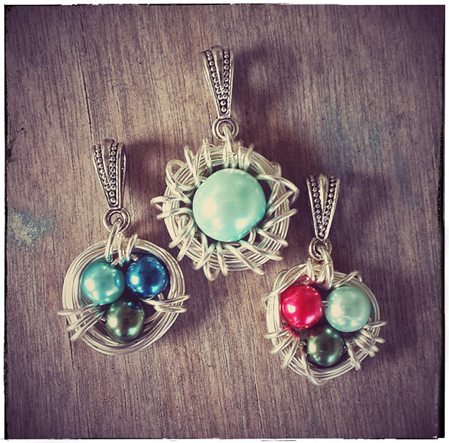 PhoenixFire Designs - Bird Nest Pendants