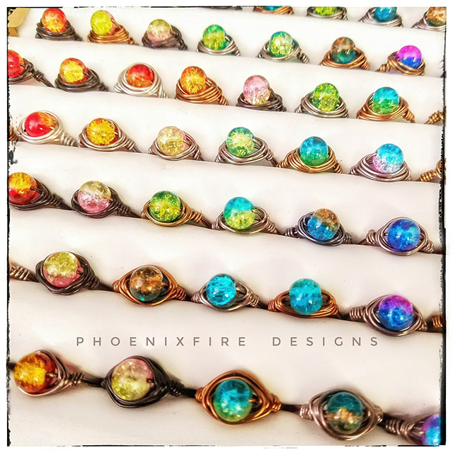 PhoenixFire Designs - Wire Wrap Rings