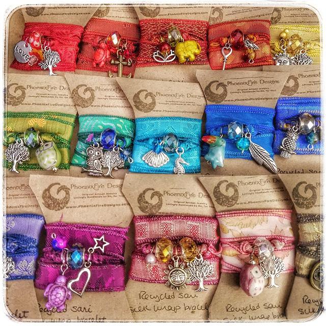 PhoenixFire Designs - Silk Wrap Bracelets