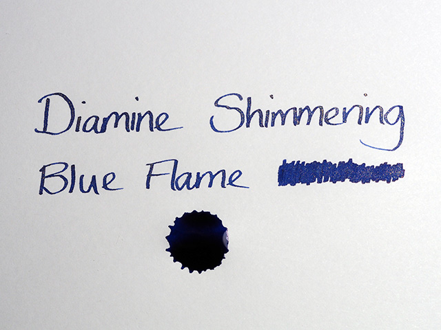 Diamine Shimmering Blue Flame Ink