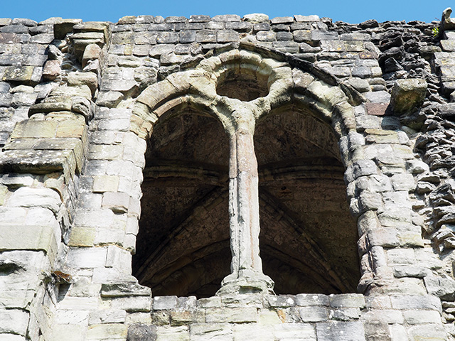 A window at Wenlock Priory