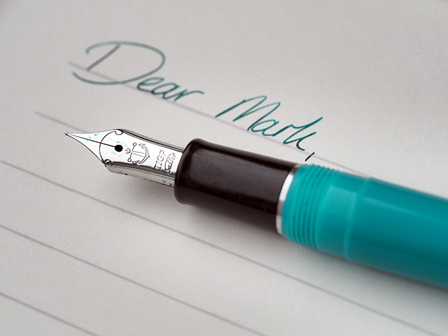 Handwriting a letter