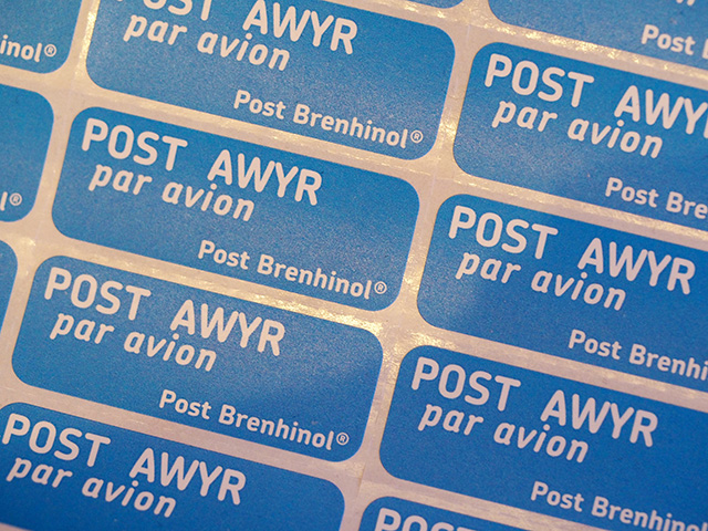 Post Awyr - Welsh Air Mail Stickers