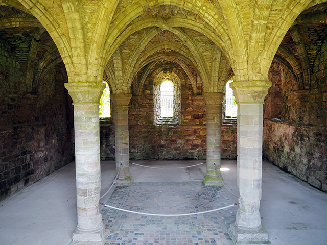 The Chapter House at Buildwas Abbey