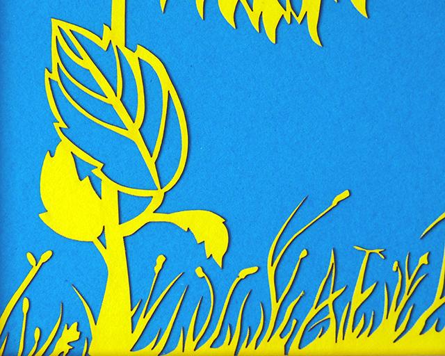Close-up of Papercut