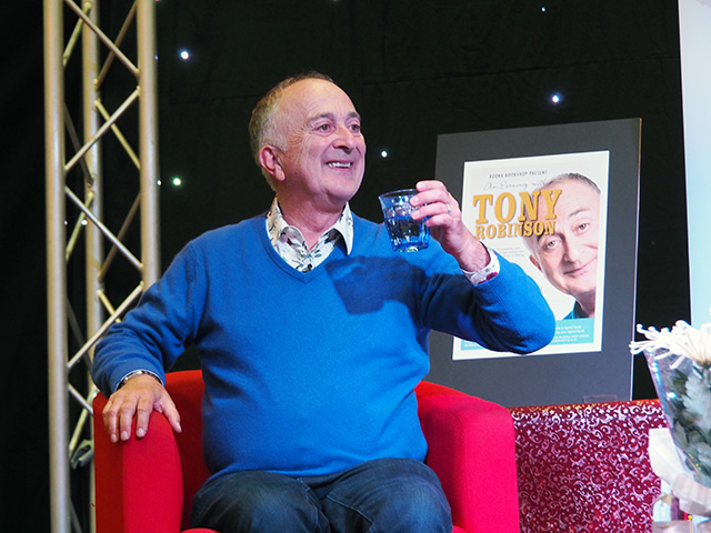 Tony Robinson on stage