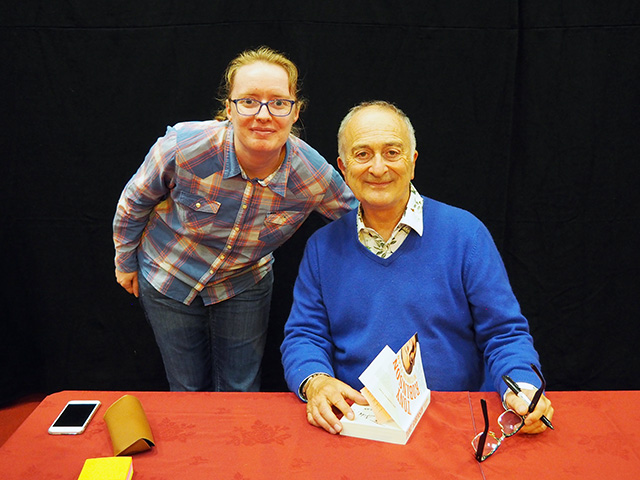 Me with Tony Robinson