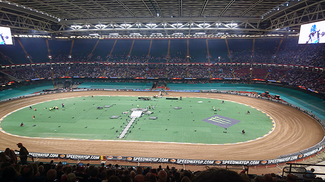The Speedway Grand Prix at the Principality Stadium, Cardiff.