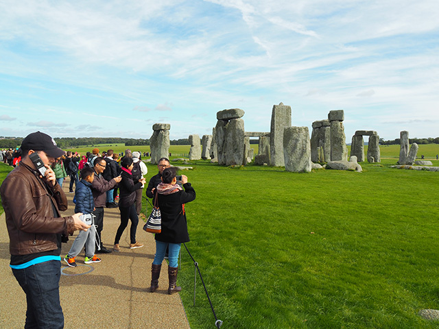 Visitors at Stonehenge