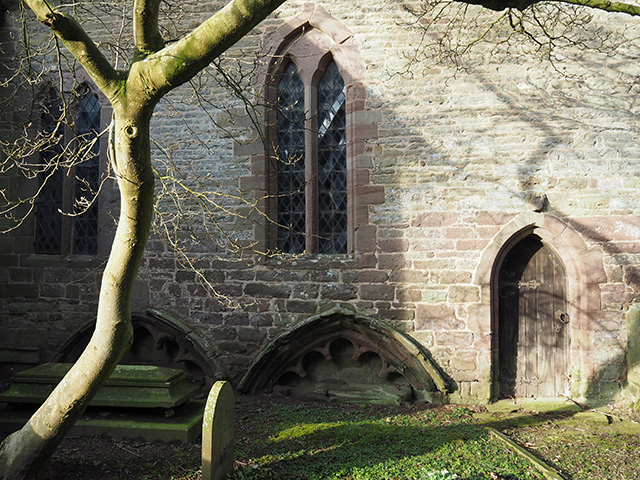 Two canopied tomb recesses at Stanton Lacy Church