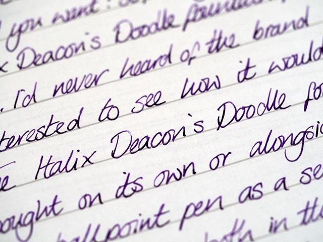 Italix Deacon's Doodle fountain pen writing