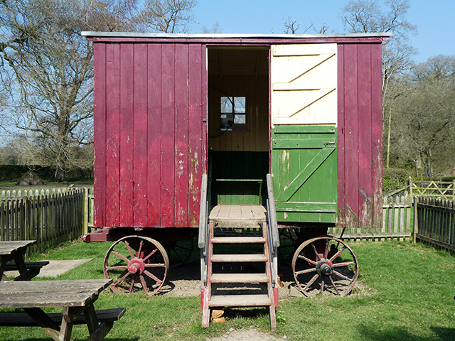 A shepherd's hut at Acton Scott.