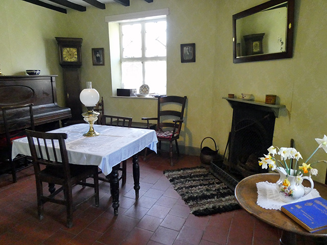 Inside the Bailiff's Cottage.