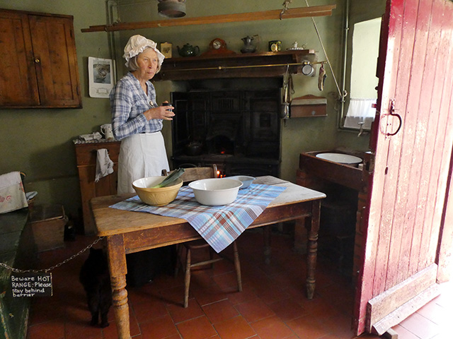 In the kitchen at the Bailiff's Cottage.