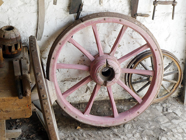A cart wheel.