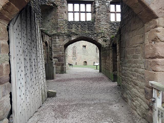 In Ludlow Castle.