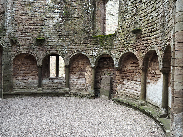 Inside the Norman Chapel at Ludlow Castle.