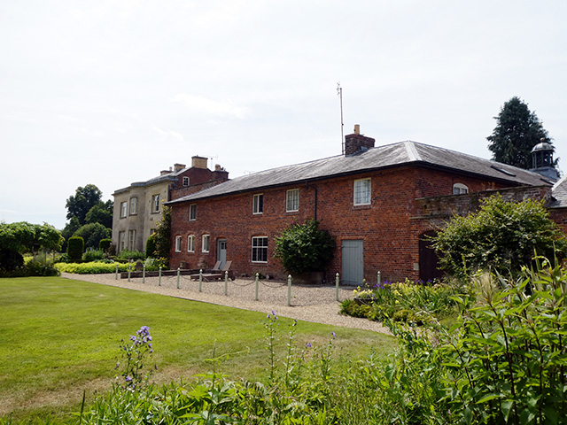 The rear of Glansevern Hall.