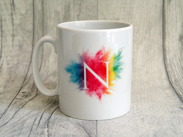 Ryman Personalised Watercolour Burst Initial Mug