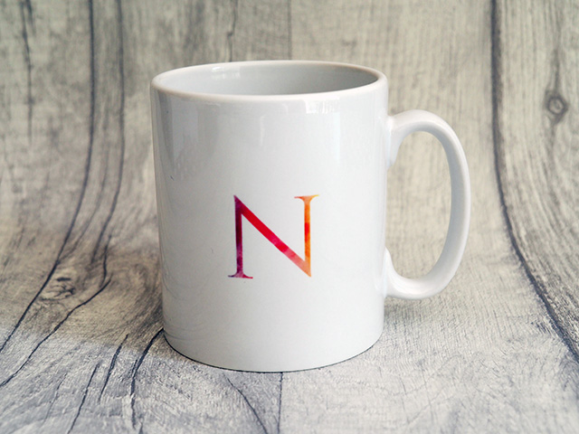Ryman Personalised Watercolour Burst Initial Mug