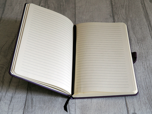 Inside the Ryman Personalised Soft Cover Medium Notebook