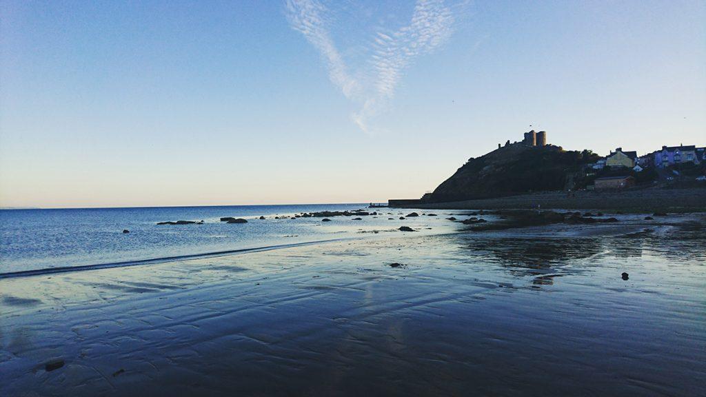 Criccieth Castle from the beach.
