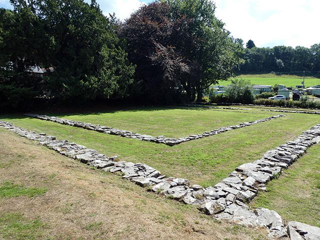 Cymer Abbey ruins.