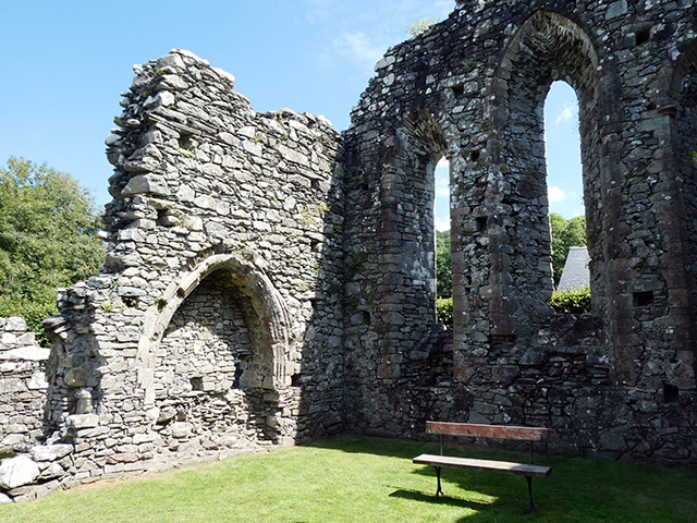 Inside Cymer Abbey.