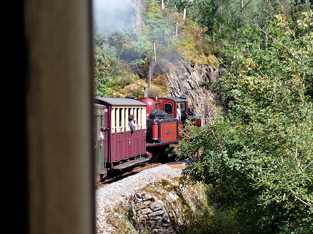 Our train (Ffestiniog Railway).
