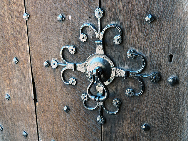 A door handle at Croft Castle.
