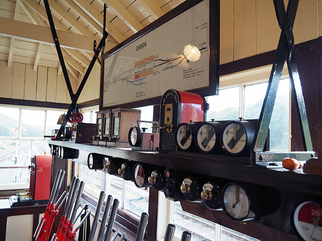 Inside Carrog Signal Box