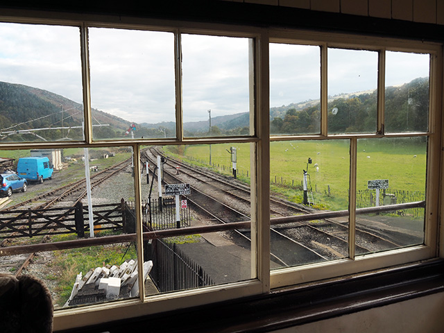 Through the window in Carrog Signal Box
