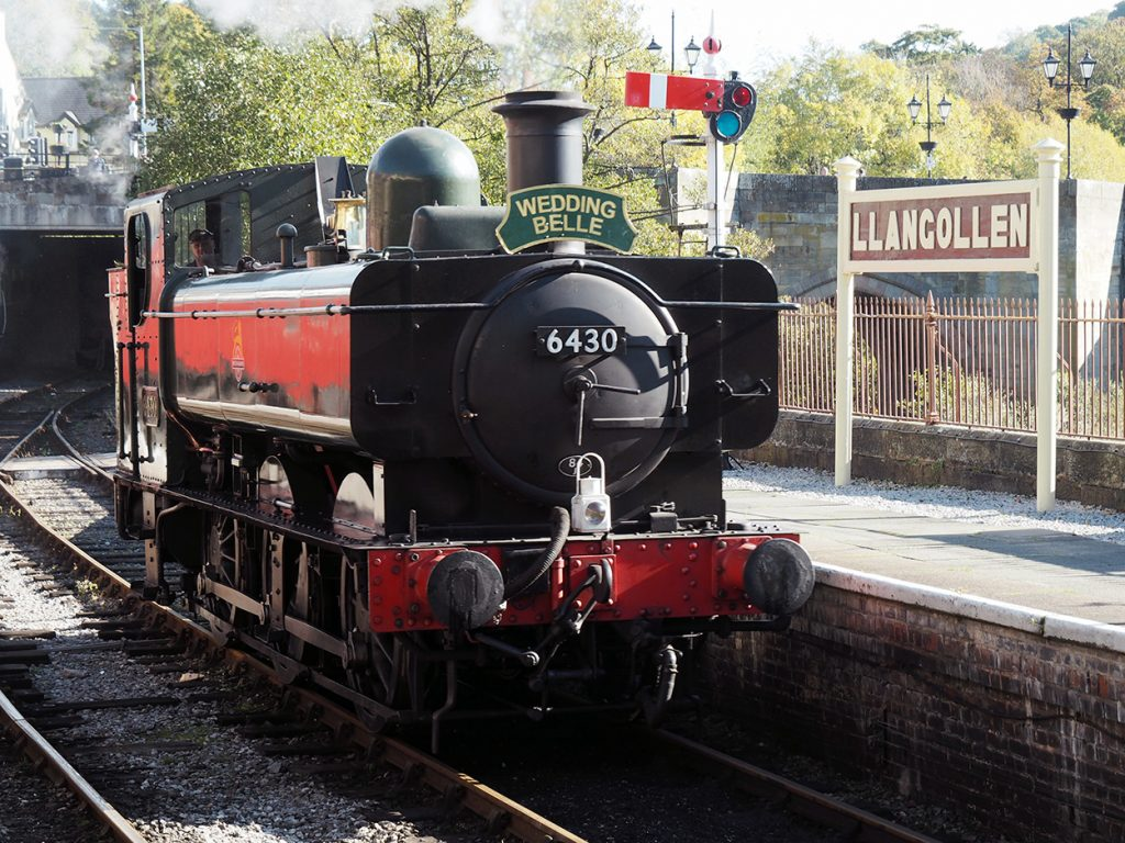 A train at Llangollen Railway.