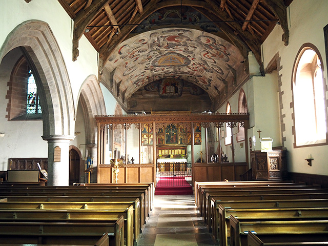 Inside St Mary the Virgin's Church, Bromfield.