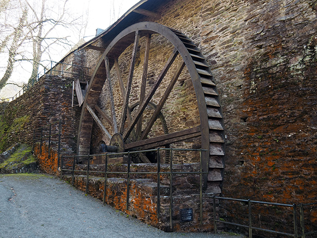 Dyfi Furnace waterwheel.