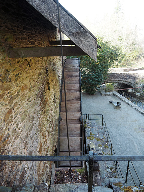 The top of Dyfi Furnace waterwheel.