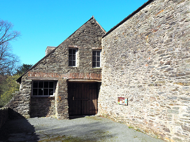 The upper part of the Dyfi Furnace building.