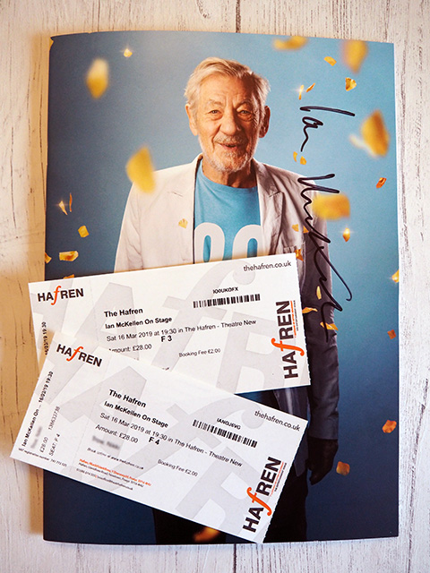 Tickets and programme for Ian McKellen on Stage.