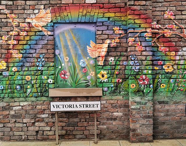 Victoria Street mural.