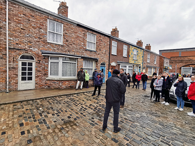 Coronation Street and its cobbles.
