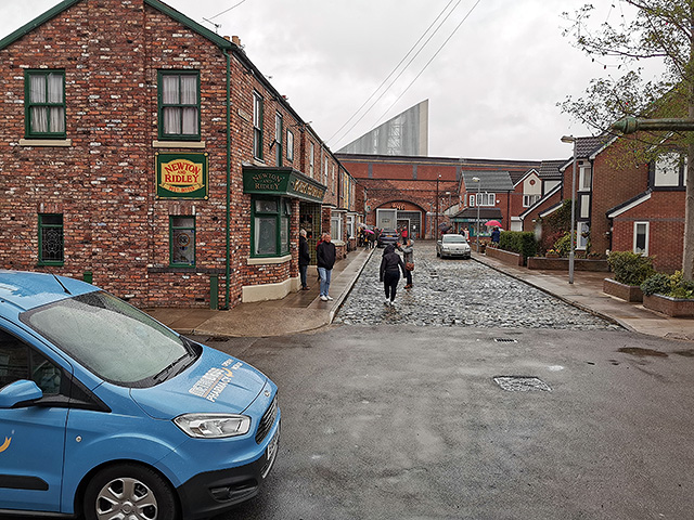 Looking down Coronation Street.