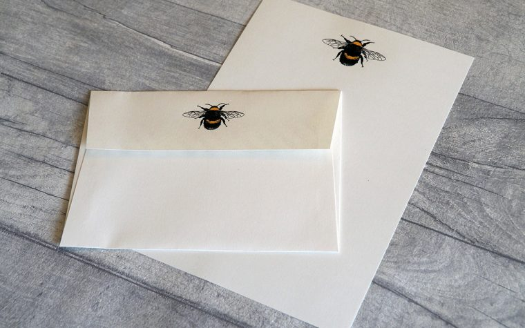 Bumble bee letter paper and envelope.