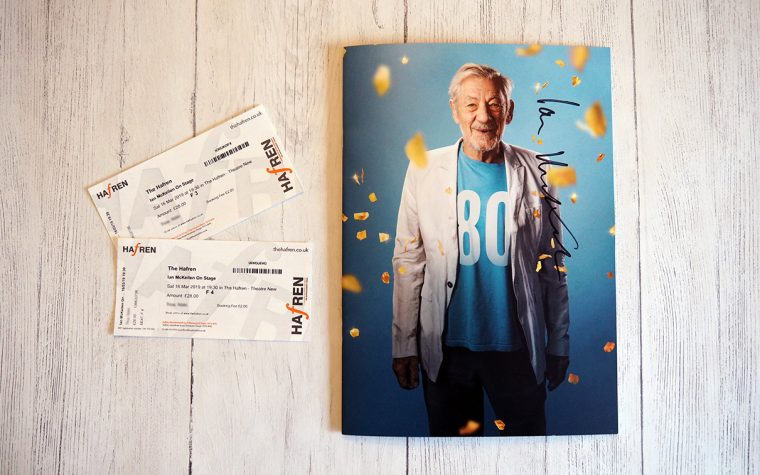 Ian McKellen tickets and programme.